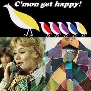 Vintage 1970s Wrangler Colorful Shirt